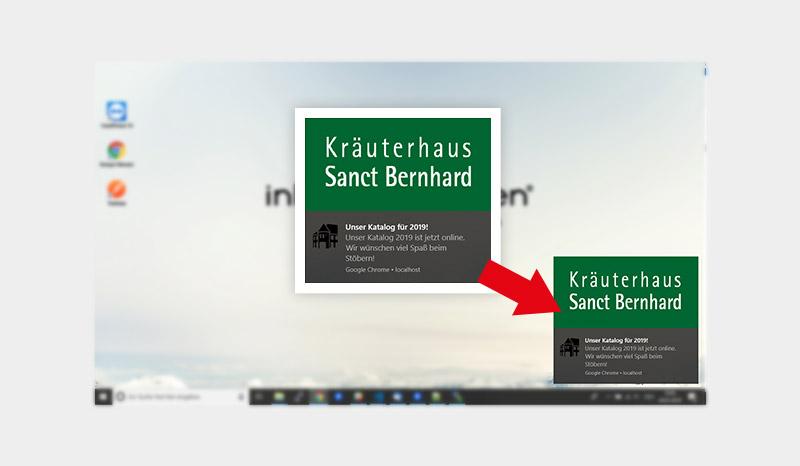 Push-Benachrichtigung in Windows