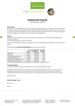 Kürbiskernöl-Kapseln 400 Kapseln 400 Kapseln
