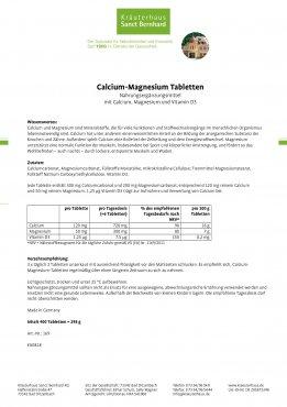 Calcium-Magnesium-Tabletten 400 Tabletten