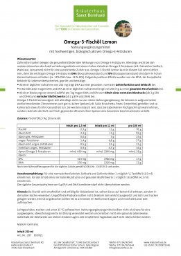 Omega-3-Fischöl Lemon 250 ml