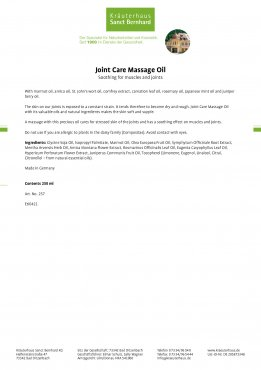 Joint Care Massage Oil 250 ml