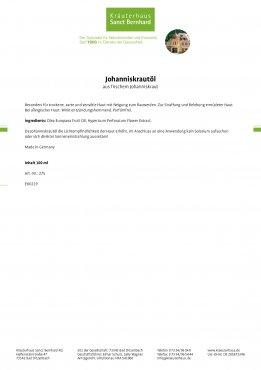 Johanniskrautöl 100 ml