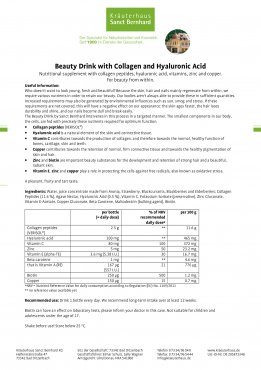 Beauty Drink with Collagen and Hyaluronic Acid 30 x 20 ml 600 ml