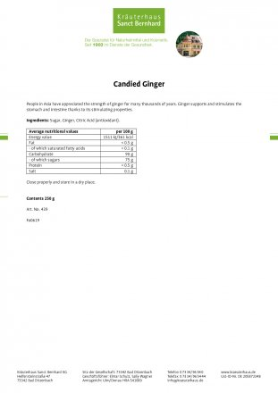 Candied Ginger 250 g
