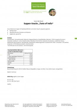 """Suppen-Snack """"Taste of India"""" 20 g"""
