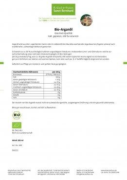 Bio-Arganöl kalt gepresst 100 ml
