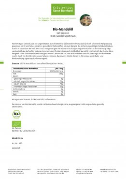 Bio-Mandelöl 250 ml