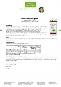Grüner-Kaffee-Kapseln 120 Kapseln