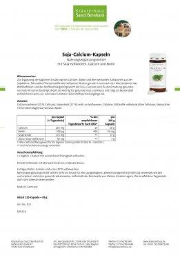 Soja-Calcium-Kapseln 120 Kapseln