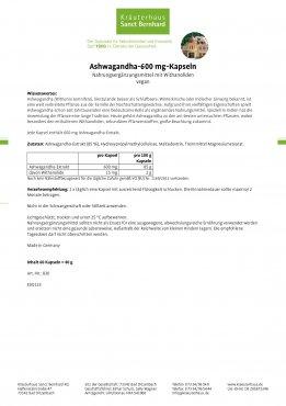 Ashwagandha-Kapseln 60 Kapseln
