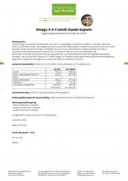 tierlieb Omega-3-6-9-Leinöl-Hunde-Kapseln 180 Kapseln