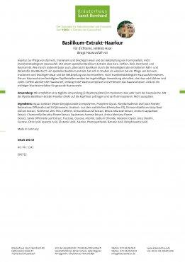Basilikum-Extrakt-Haarkur 100 ml