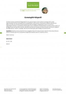 Granatapfel-Körperöl