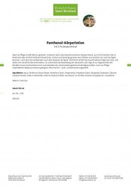 Panthenol-Körperlotion 250 ml