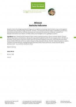 Minesan Basische Fußcreme 100 ml