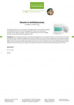 Vitamin-A-Antifaltencreme 100 ml