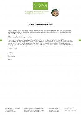 Schwarzkümmelöl-Salbe 100 ml