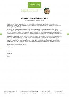 Rosskastanien-Weinlaub-Creme 150 ml 150 ml