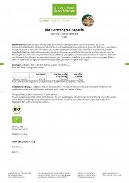 Bio-Gerstengras-Kapseln 240 Kapseln