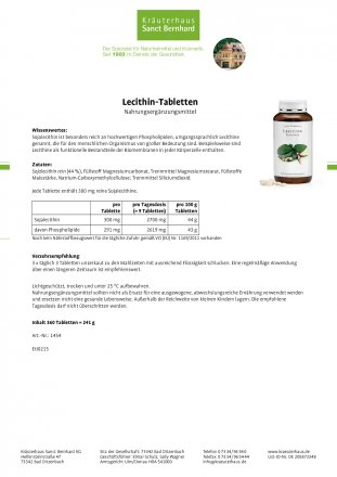 Lecithin-Tabletten