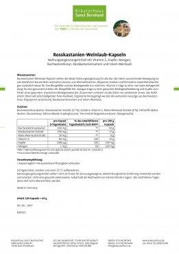 Rosskastanien-Weinlaub-Kapseln 120 Kapseln