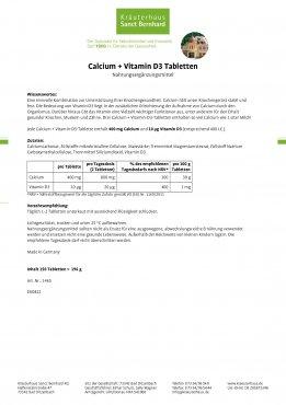 Calcium+Vitamin-D3-Tabletten 150 Tabletten