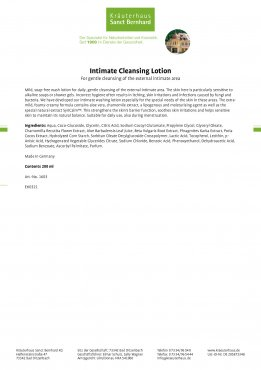 Intimate Cleansing Lotion 200 ml