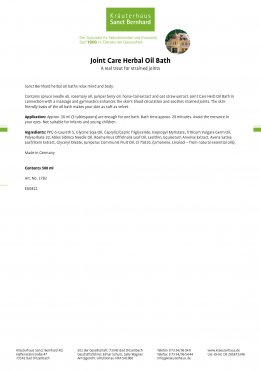 Joint Care Herb Oil Bath 1.5 liter