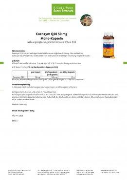 Coenzym Q10 50 mg Mono-Kapseln