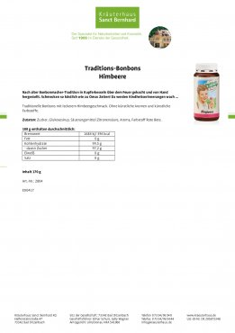 Traditions-Bonbons Himbeere 170 g