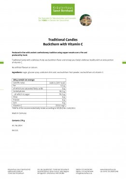 Traditional Candies Sea Buckthorn with Vitamin C