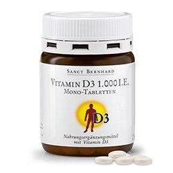 Comprimés mono Vitamine D 1.000 U.I. 250 comprimés