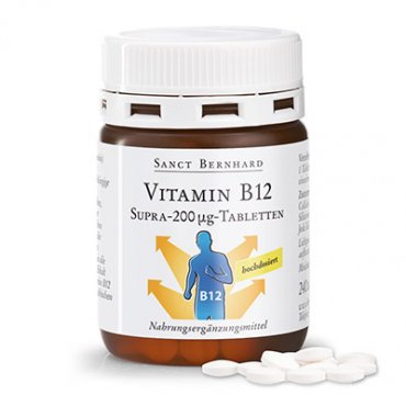 Vitamin B12 Supra 200 µg Tablets